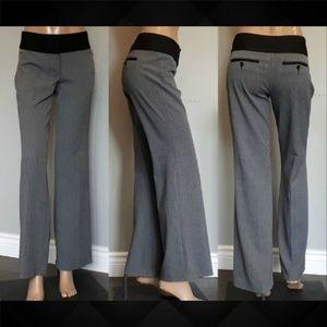 Express Editor Gray Dress Pants Black Trim Flare
